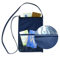 Non-woven Travel Pouch with Zipper Closure