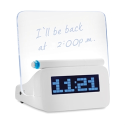 Fluorescent Message Clock