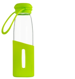 Silicone Cover + Glass Bottle