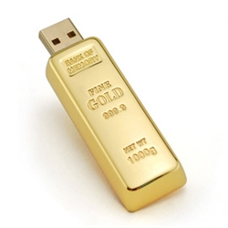 Golden USB Drive Flash