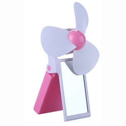 Mini Mirror Foldable Fan